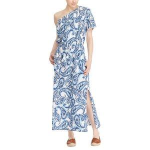 Ralph Lauren One Shoulder Paisley Summer Dress